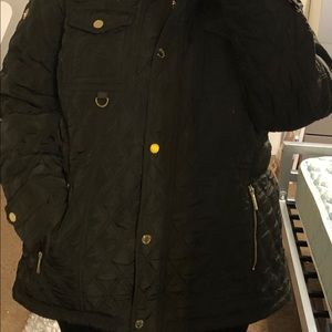 Michael kors olive green quilted jacket